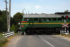 Estrada de ferro em Ucrânia Foto de Stock