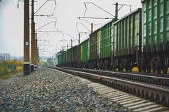 Estrada de ferro, estrada de ferro, trilho, linha ferroviária Fotos de Stock Royalty Free