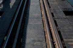 Estrada de ferro histórica, Kanchanaburi, Tailândia Fotos de Stock