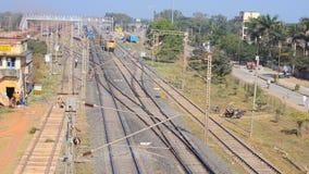 Estrada de ferro indiana vídeos de arquivo