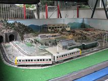 Estrada de ferro modelo no museu de estrada de ferro de Hong Kong, Tai Po foto de stock
