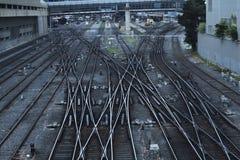 Estrada de ferro moderna Fotografia de Stock Royalty Free