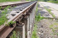 Estrada de ferro Mova-se para a frente! Fotografia de Stock