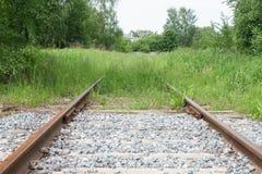 Estrada de ferro Mova-se para a frente! Foto de Stock Royalty Free