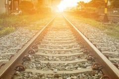 Estrada de ferro na cidade Imagem de Stock Royalty Free