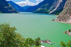 Estrada de ferro nacional canadense, lago do senton imagem de stock