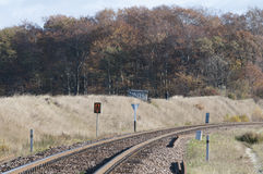 A estrada de ferro no Polônia Foto de Stock Royalty Free