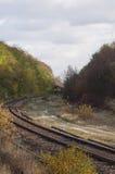 A estrada de ferro no Polônia Fotos de Stock