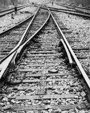 Estrada de ferro no preto Fotografia de Stock Royalty Free