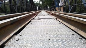 Estrada de ferro no rio Foto de Stock