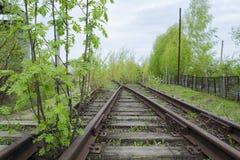 Estrada de ferro oxidada velha Fotos de Stock
