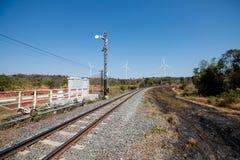 Estrada de ferro, paisagem do campo Foto de Stock Royalty Free