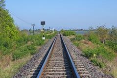 Estrada de ferro para o trem em Tailândia Imagem de Stock