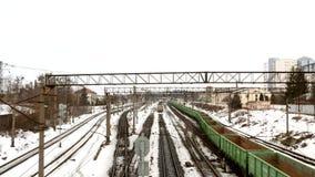 Estrada de ferro Railway do vagão do trem vídeos de arquivo