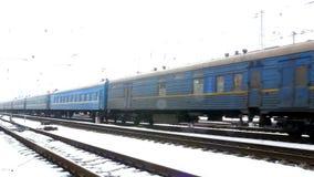 Estrada de ferro Railway do vagão do trem filme