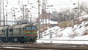 Estrada de ferro Railway do vagão do trem video estoque