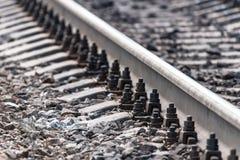 A estrada de ferro rebita o close-up Fotos de Stock Royalty Free