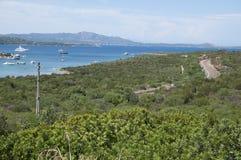 Estrada de ferro Sardinia Fotografia de Stock Royalty Free