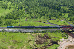 Estrada de ferro transiberiana Fotografia de Stock