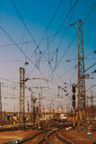 Estrada de ferro ucraniana Estação de trem do passageiro de Kharkiv Fotografia de Stock