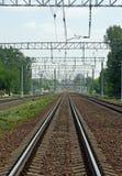 Estrada de ferro vazia Fotos de Stock