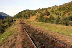 A estrada de ferro velha Foto de Stock Royalty Free