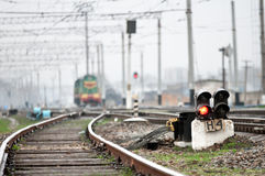 Estrada de ferro velha Fotos de Stock