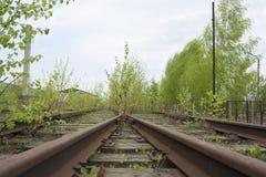 Estrada de ferro velha Fotografia de Stock Royalty Free