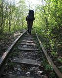 Estrada de ferro velha Imagem de Stock Royalty Free