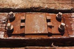 Estrada de ferro velha dormente Foto de Stock Royalty Free