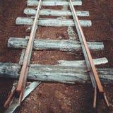Estrada de ferro velha Foto velha estilizado Imagens de Stock Royalty Free