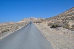 Estrada de Fuerteventura ao La Lajita 1 Imagens de Stock