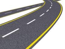Estrada de giro Imagem de Stock