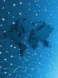 Estrada de informação do mapa de mundo ilustração do vetor