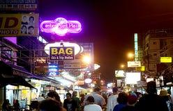 Estrada de Khao San Foto de Stock