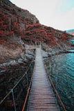 Estrada de madeira sobre o mar Fotos de Stock