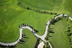 Estrada de Montichiello Siena imagens de stock royalty free