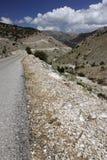 Estrada de Moutain no mediterrâneo Imagem de Stock Royalty Free
