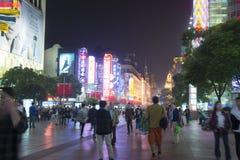 Estrada de Nanjing em Shanghai, China Fotografia de Stock Royalty Free