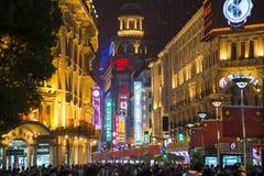 Estrada de Nanjing em Shanghai, China Foto de Stock