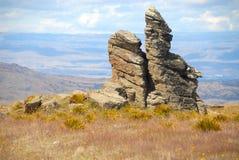 Estrada de Nevis das formações de rocha do Schist, Nova Zelândia Imagem de Stock