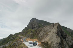 A estrada de Ortegal do cabo Fotografia de Stock