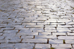Estrada de pedra cinzenta Fotografia de Stock