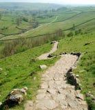 Estrada de pedra na angra de Malham (Reino Unido) Imagens de Stock