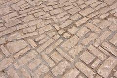 Estrada de pedra velha Fotografia de Stock