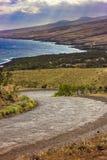 Estrada de Piilani, Maui Fotografia de Stock Royalty Free