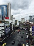 Estrada de Ratchaprarop, Banguecoque Imagens de Stock