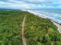 Estrada de Rurual no litoral Imagem de Stock