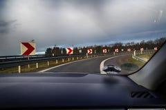 Estrada de saída da estrada Fotos de Stock