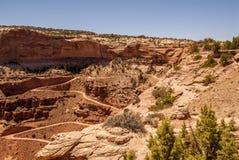 Estrada de suspensão do penhasco - parque nacional de Canyonlands imagem de stock royalty free